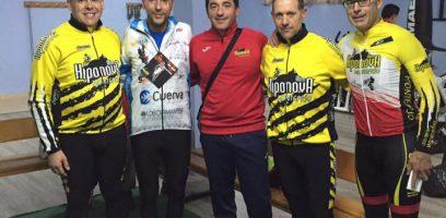 Jorge y el Concejal de Deportes de Montefrío en la Marcha Solidaria