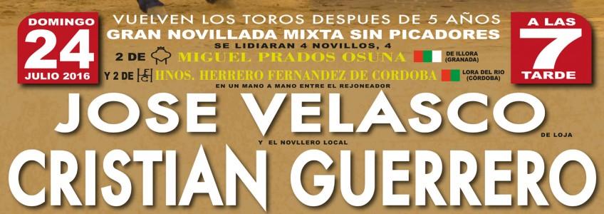 Cartel Fiestas Villanueva Mesía toros