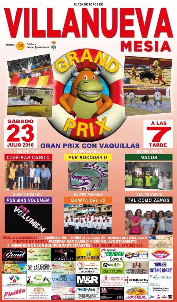 Cartel del Grand Prix de las fiestas de Villanueva