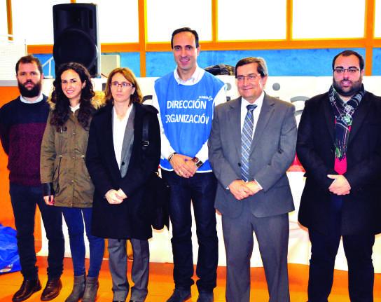 El presidente de Diputación, José Entrena, junto a varios concejales socialistas entre ellos el Secretario General