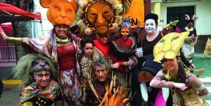 """El musical de El Rey León también se """"representó"""" en Salar. Foto: AMPA Salar"""