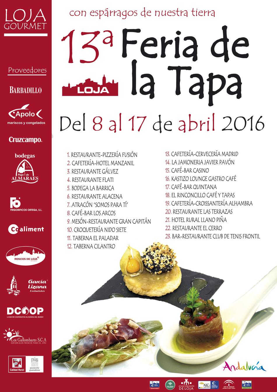 13ª Feria de la Tapa de Loja - del 8 al 17 de abril