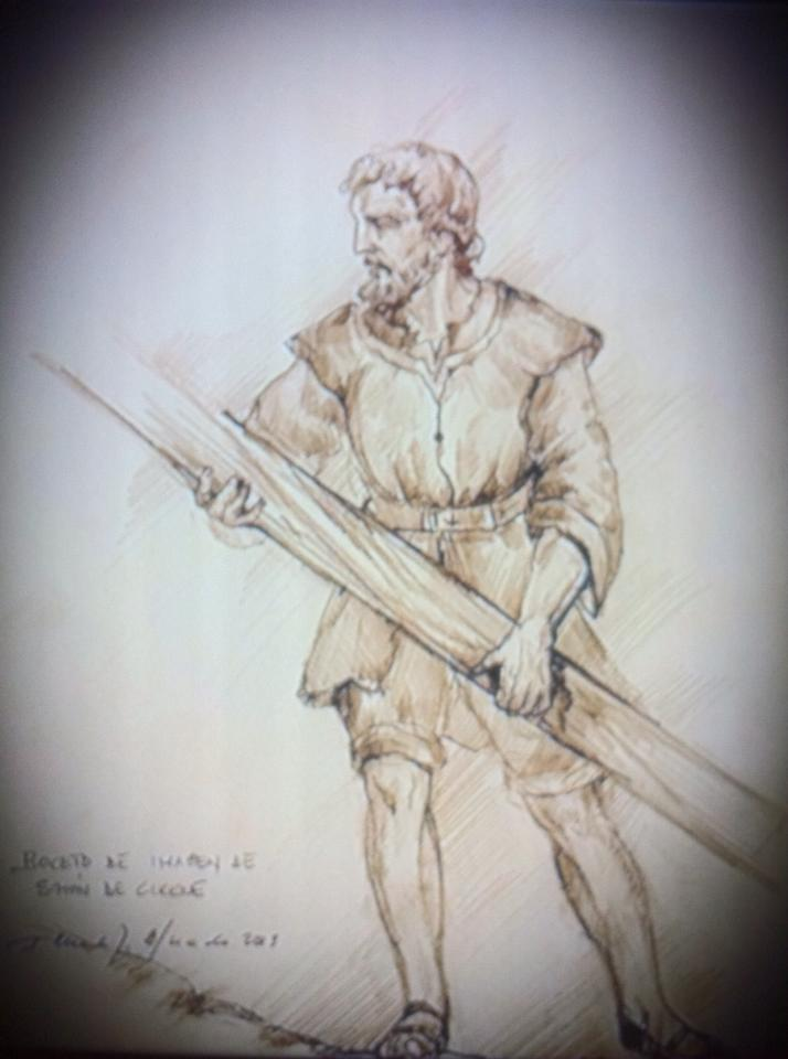 Boceto del Cirineo del paso de las Tres Caídas