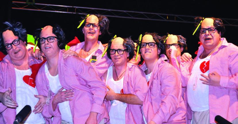 """Chirigota de Loja """"Los Aveturitas"""", primer premio en su modalidad."""