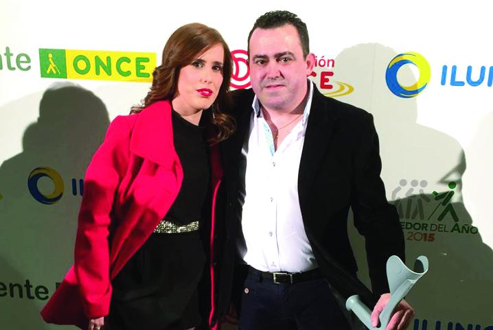 Francisco Joyera, Frasco, junto a su sobrina Mª Piedad Joyera en el acto que se celebró el pasado mes en Madrid.