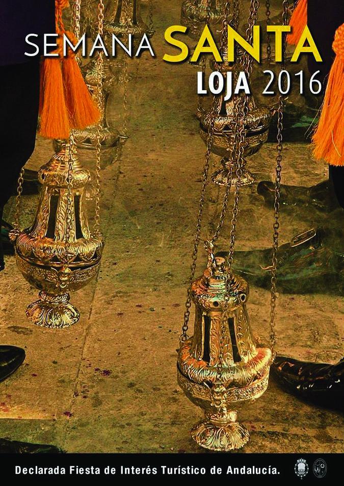 Cartel anunciador de la Semana Santa de Loja 2016